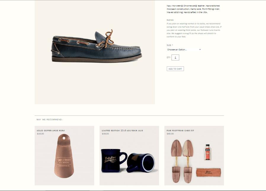 página de produto