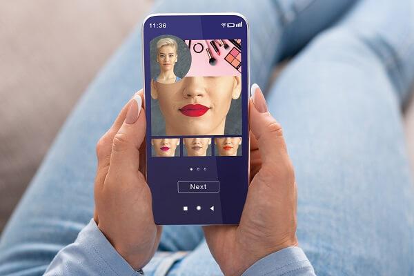 como fazer realidade aumentada no e-commerce utilizando o provador virtual para a escolha do batom