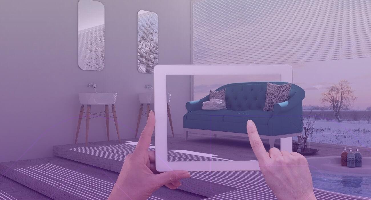 Exemplo De Realidade Aumentada No E-commerce Com Um Sofá