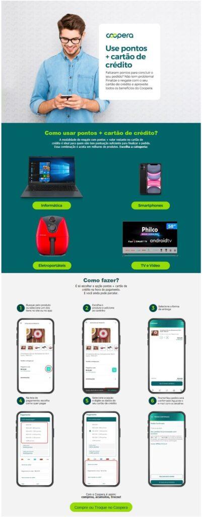 Hotsite do Coopera é um dos formatos  para criar conteúdo para e-commerce.