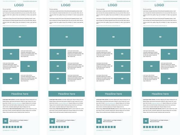 quatro modelos de newsletter para e-commerce com templates.